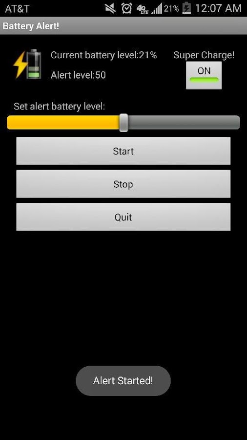 Battery Charge Alert - screenshot