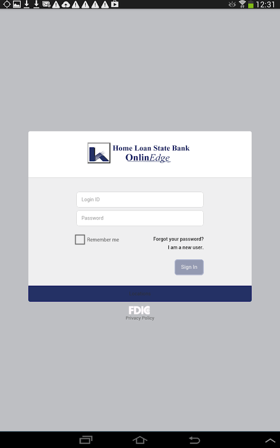 Home Loan State Bank MobilEdge - screenshot