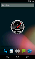 Screenshot of Battery Level Petrol Gauge