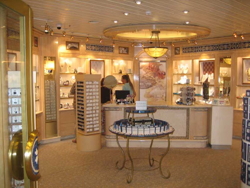 A boutique shop aboard Caribbean Princess. We passed!