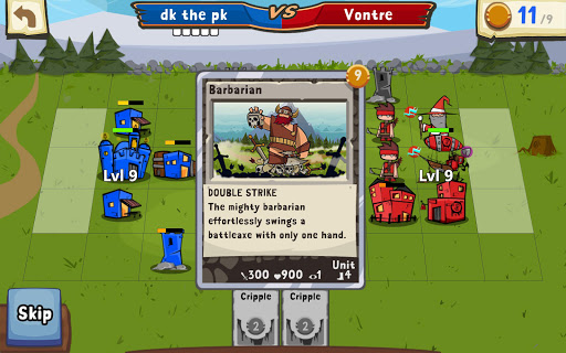 Игра Cards and Castles для планшетов на Android