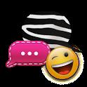 B&W Zebra PINK GO SMS Theme icon