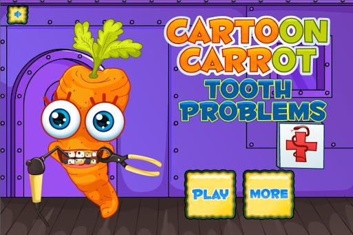 卡通胡蘿蔔牙醫