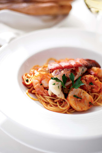 Culinary-Experiences-Lobster-Pasta-Entree-1 - Indulge on lobster pasta during your Crystal Symphony voyage.