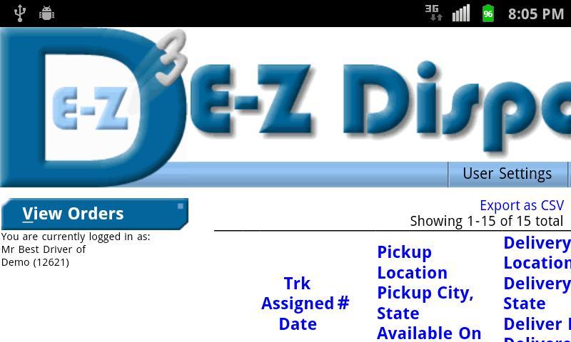 EZDispatch- screenshot