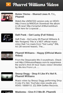 Pharrell Williams Videos - screenshot thumbnail