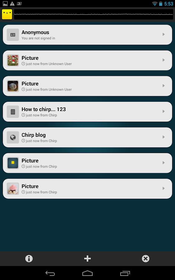 Chirp - screenshot