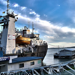 Perseus  by Vlad Zugravel - Transportation Boats ( stock, hdr, boat, submersible, icebreaker )
