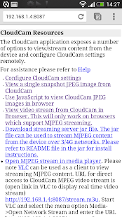 Cloud Cam Demo- screenshot thumbnail