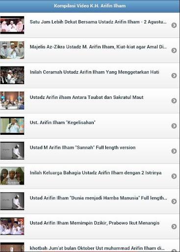 Ceramah K.H. Arifin Ilham