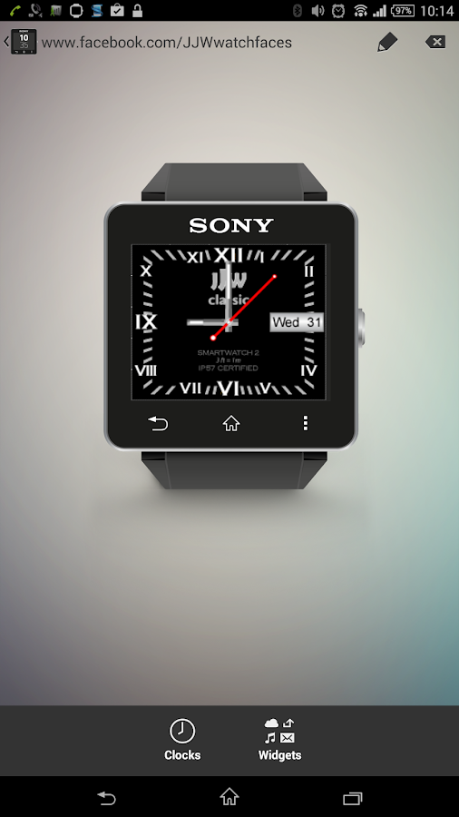 JJW Classic Watchface 2 SW2- screenshot