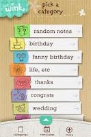 Screenshot of justWink Greeting Cards INTL
