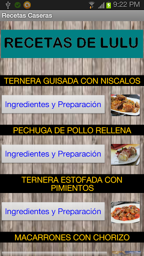Recetas de Cocina Españolas