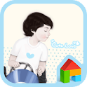 Cute love boy dodol theme