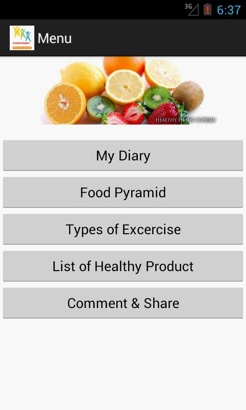 My Diet Diary - screenshot