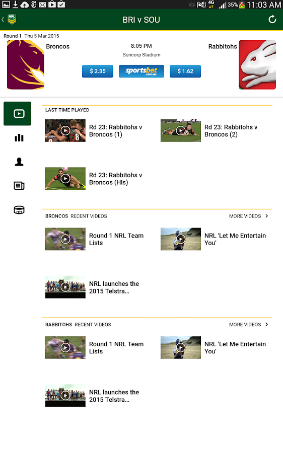 NRL Official App- screenshot