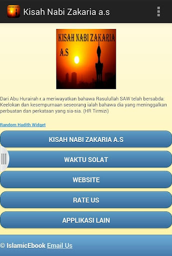 Kisah Nabi Zakaria a.s