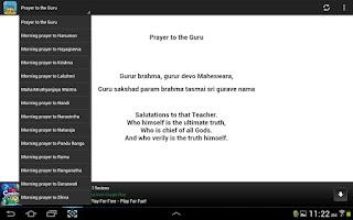 Screenshot of Daily Prayers