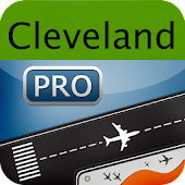Cleveland Airport+Flight Track