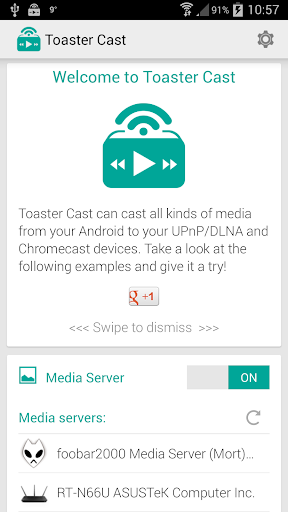 Toaster Cast DLNA UPNP player