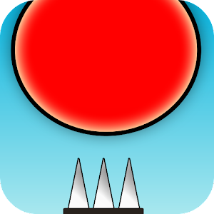 Red Bouncing Ball Spikes for PC and MAC