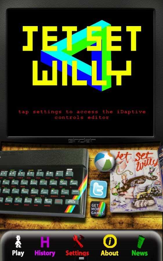 Jet Set Willy: ZX Spec (SIII)- screenshot