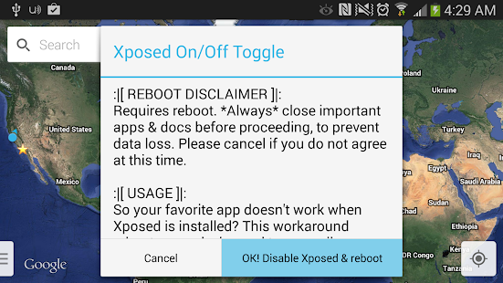 Xposed On Off Toggle