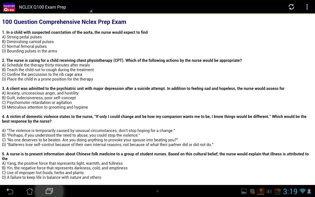 NCLEX Q-200 Nursing Q bank- screenshot