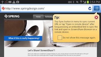 Screenshot of ScreenShare (phone)