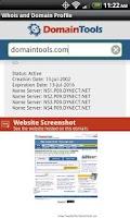 Screenshot of DomainTools Whois Lookup