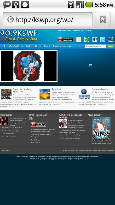 KSWP 90.9 - screenshot