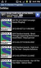 Hindi TV Channel programs