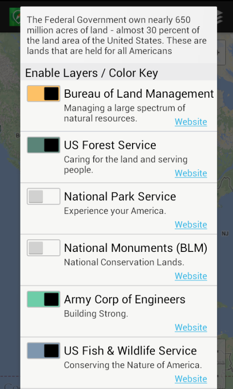 US Public Lands- screenshot