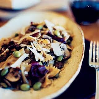 Shiitake-Ginger Pasta Salad with Radicchio.