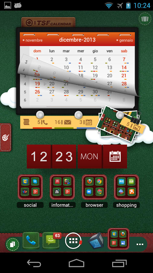 TSF Shell Christmas Theme - screenshot