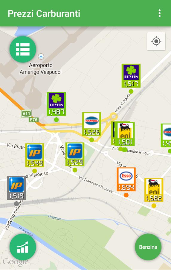 Prezzi Carburanti - screenshot