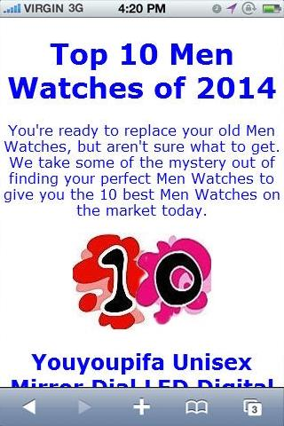 Men Watche Reviews