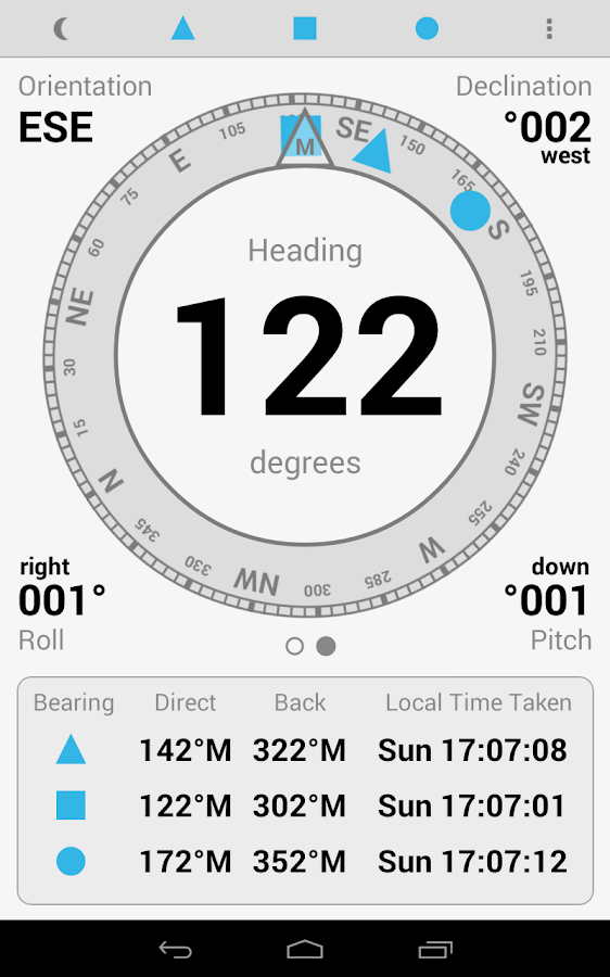 Digital Field Compass Plus- screenshot