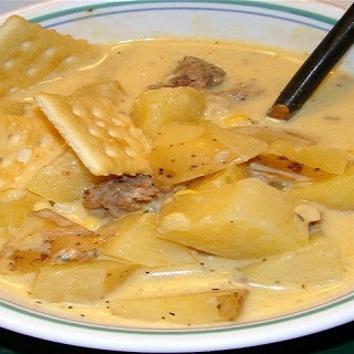 Crock-Pot Cheesy Harvest Potato Chowder