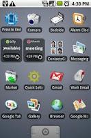 Screenshot of GTalk Status Widget
