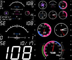 Screenshot of Dashboard Air - Speedometer