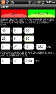 GB Gas Ventilation Calculator- screenshot thumbnail