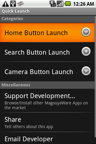 Quick Launch (App Launcher) - screenshot