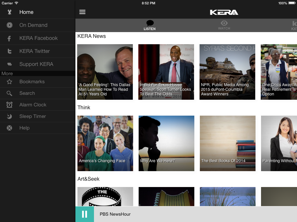 KERA Public Radio App - screenshot