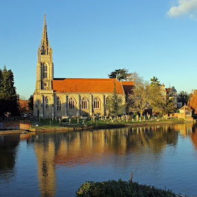 All Saints Church Marlow by Tony Murtagh - Buildings & Architecture Places of Worship ( marlow, bucks, church, autumn, fall, reflections, english countryside, river thames )