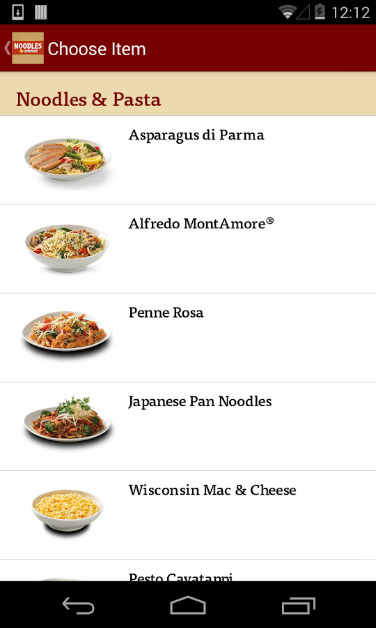 Noodles & Company Ordering - screenshot