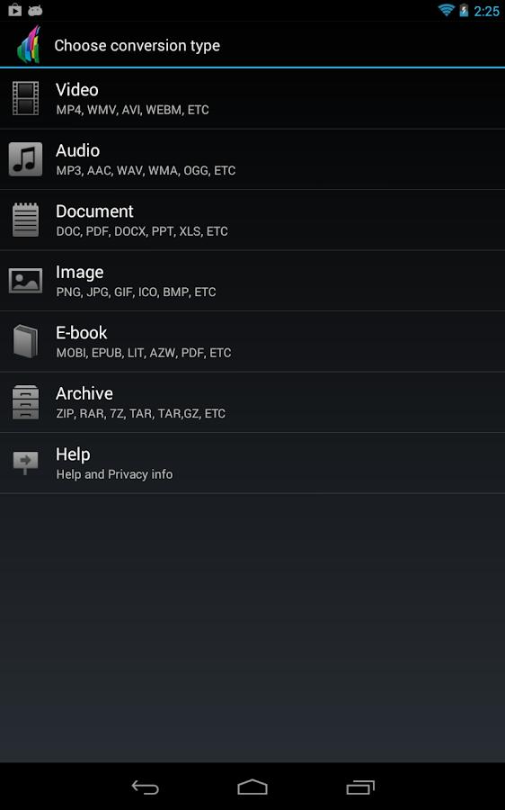 The File Converter - screenshot
