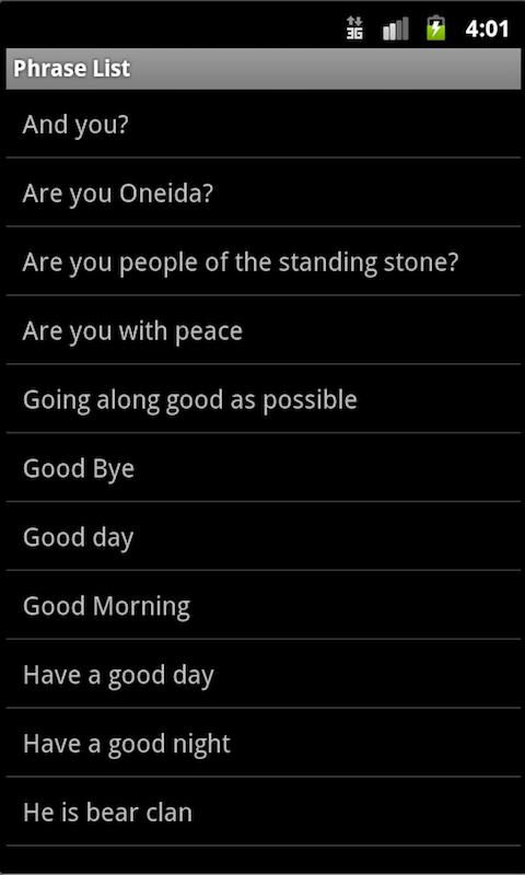 Oneida Language: Wisconsin screenshot #3