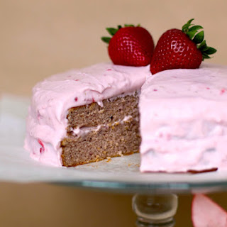 Strawberry Sponge Cake with Strawberry Frosting