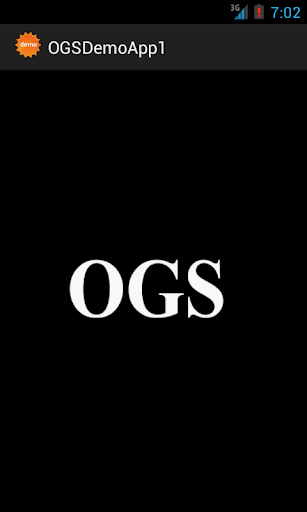 OGS Demo First App